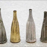 001.+Four+Individual+Stoneware+Bottles+in+a+Row,+Average+Height+230mm