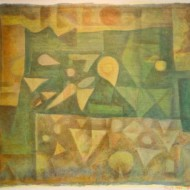 006.+Collective+Forms-+Paul+Klee+Visiting,+800mm+x+900mm,+Oil+on+Canvas