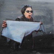 010.+Woman+with+Cloth,+Oil+on+Linen,+350mm+x+450mm