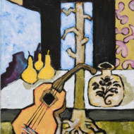 011.+Still+Life+with+Guitar,+Acrylic+on+Canvas,+455mm+x+355mm