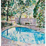 016.+Pool+Garden,+650mm+x+610mm,+Oil+on+Canvas