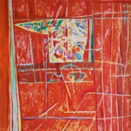 018.+Red+Interior+A+la+Matisse,+1+020mm+x+910mm,+Oil+on+Canvas