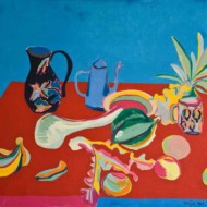 022.+Still+Life-+Blue+Teapot,+770mm+x+920mm,+Oil+on+Canvas