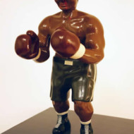 The+Pugilist+1,+Wood+and+Enamel+Sculpture,+Height+330mm