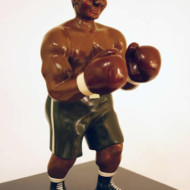 The+Pugilist+2,+Wood+and+Enamel+Sculpture,+Height+330mm