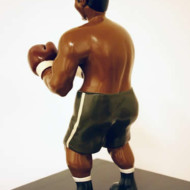 The+Pugilist+3,+Wood+and+Enamel+Sculpture,+Height+330mm