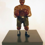 The+Pugilist+4,+Wood+and+Enamel+Sculpture,+Height+330mm
