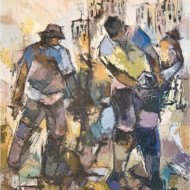 Street+Workers,+Oil+on+Board,+520mm+x+410mm